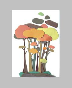 Paper illustration Web design by Denny Nguyen, via Behance 3d Paper Art, Paper Artwork, Paper Crafts, Cut Paper, Kids Art Class, Art For Kids, Collage Illustration, Collage Art, Kirigami