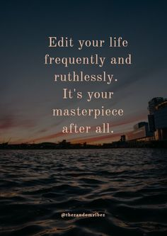 Edit your life frequently and ruthlessly. It's your masterpiece after all. Self-help is the best help. Every word of the saying is true. Personal growth is not easy and it does not happen overnight. It is the result of continuous efforts and time which invest in ourselves, to improve ourselves morally, intellectually and, physically.  #inspirationallifequotes #lifeinspiringquotes #inspiringquotes2020 #inspiringgrowthquotes #morninginspiration #inspiration2020 #morningmotivation #quotes2020 Ispirational Quotes, My Life Quotes, Fact Quotes, Wisdom Quotes, Words Quotes, Daily Quotes, Self Inspirational Quotes, Inspiring Quotes About Life, Meaningful Quotes