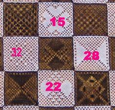 Le 28ème carré de notre damier, que vous propose Dominique, est composé de fond filoche et de grille.           Si vous réalisez un ouvrage ...