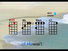Notes: Remember the number you see next to the chords indicate the number of times you need to repeat the strum pattern.    The strum pattern is: Down Down Up Up Down      Chords: F, Bb, Bbm, and C7