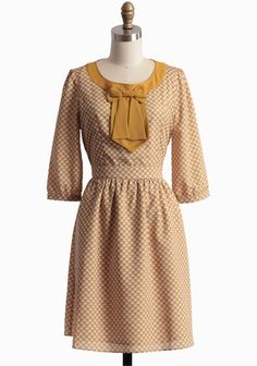 Falling In Love Heart Printed Dress | Modern Vintage Autumn Hues