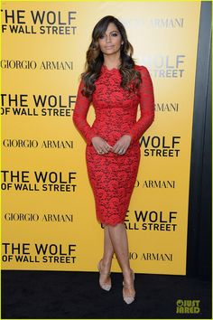 I don't find her pretty but her husband is!!!! Camila Alves at the premiere of 'The Wolf of Wall Street' held at Ziegfeld Theatre in New York City.  (December 2013)