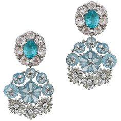 Matina Amanita Anne Earrings ($6,600) ❤ liked on Polyvore featuring jewelry, earrings, chandelier earrings, multiple, pink heart earrings, 14k earrings, white gold chandelier earrings, white gold jewelry and pink jewelry