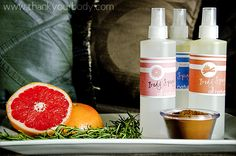 All natural body spray recipe. Can you say homemade gift? - The Grapefruit and Lavender combo smells AWESOME! Not a smell combo I would have thought of, but really great!
