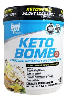 Save on Keto Bomb Ketogenic Weight Loss Fuel French Vanilla Latte by BPI Sports and other Fat Burners, Fat Burners and Sugar-Free remedies at Lucky Vitamin. Shop online for Diet & Weight Loss, Sports Nutrition, BPI Sports items, health and wellness produc Keto Diet Plan, Low Carb Diet, Ketogenic Diet, Ketogenic Lifestyle, Diet Plans, Paleo Diet, Ketogenic Coffee, Diet Foods, 7 Keto