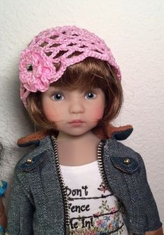 "Pink Cloche Hat for 13"" Effner Little Darling by Suds 