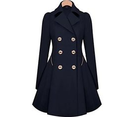 Skymoto®Women's Fashion Slim OL Trench Faux Long Design Trench Coat - USD $ 24.99
