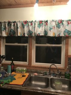 pioneer woman kitchen curtain and valance set, assorted patterns