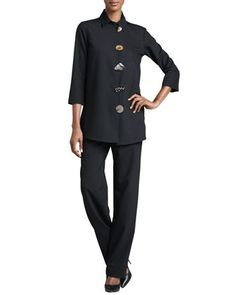 d0d7010b0db7f Caroline Rose Stretch-Gabardine Travel Jacket   Pants. Stretch-Gabardine  Travel Jacket   Pants