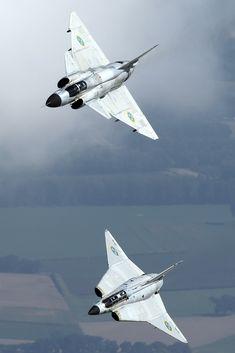 "dannikingg: ""Swedish Air Force - Saab 37 Viggen and Saab 35 Draken Photo by Weimeng """
