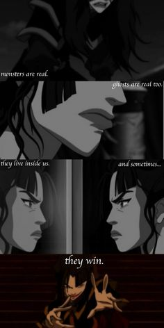 One of the best villains. She had amazing character development with the perfect demise. Definitely the reason she is my favorite Avatar character. Korra Avatar, Team Avatar, Stephen King Quotes, Sneak Attack, Best Villains, Azula, Korrasami, Fire Nation, Legend Of Korra