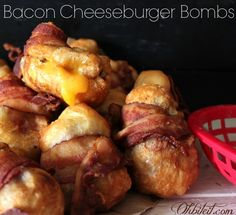 ~Bacon Cheeseburger Bombs! Oh sweet Mother of God!!!