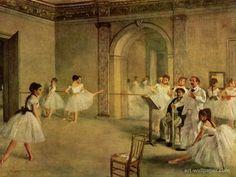 "#MiObraFavoritaTema1 de @artesigloXX es ""El salón de baile de la Ópera"", Edgar Degas, de 1872, Impresionismo."
