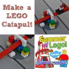 Make a LEGO Catapult! My boys would go ballistic over this. (K-3 STEM)