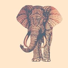 Tribal print elephant. THE CUTEST THING EVER.