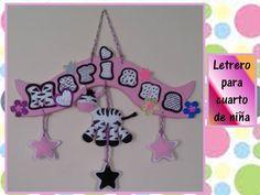 ♥♥♥LETRERO EN FOAMY PARA CUARTO DE NIÑOS♥♥♥- CREACIONES mágicas♥♥