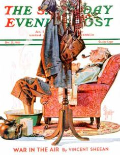 Saturday Evening Post - 1940-12-21: Postman Soaking Feet (J.C. Leyendecker)