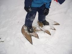 I'm going to do this with the grand kids this winter.  How fun to make monster prints in the snow.