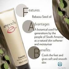 nuskin epoch firewalker - Google Search Nu Skin, Foot Cream, Epoch, Moisturiser, Smooth Skin, Seed Oil, Natural Skin, Tired Feet, Face Products