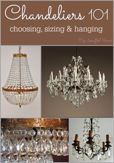 Chandelier 101 - choosing, sizing and hanging Easy to remember advice & tips to help get you the right sparkle in the right place! #bHomeApp