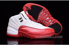 "http://www.jordanaj.com/2016-air-jordan-12-cherry-white-varsity-redblack.html 2016 AIR JORDAN 12 ""CHERRY"" WHITE/VARSITY RED-BLACK Only 86.87€ , Free Shipping!"