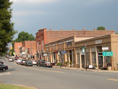 The cute downtown of Waxhaw, NC - check out the bookstore, Provisions (spices and such), and the antique shops #waxhaw #charlotte #nc
