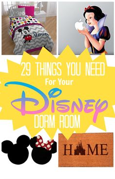 Community Post: 29 Magical Products You Need For The Perfect Disney Dorm Room