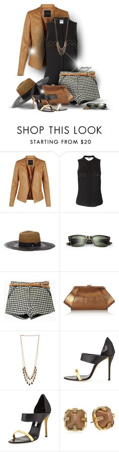 """""""This Under That"""" by rockreborn ❤ liked on Polyvore featuring Vero Moda, House of Lafayette, Ray-Ban, ZAC Zac Posen, DailyLook, Oscar de la Renta and Vince Camuto"""