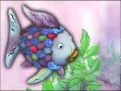 You Tube video the rainbow fish. Play the story then nhave students complete additon and subtraction sheet. Glue the sheet to purple paper and hang up.