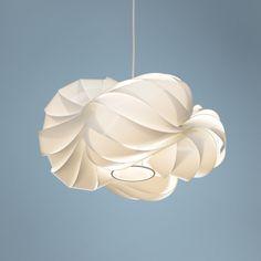"Possini Euro Design White Cloud 15"" Wide Pendant Chandelier   LampsPlus.com"