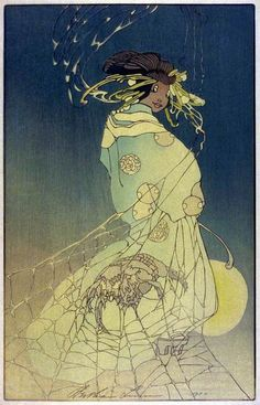 Woodblock prints (Estampes) :: Spider Woman