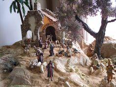 ideas for nativity backdrop Christmas Village Display, Christmas Nativity Scene, Christmas Villages, Christmas Traditions, Christmas Decorations, Nativity Scenes, Birthplace Of Jesus, Portal, Backdrops
