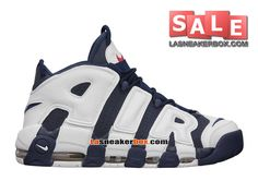 NIKE AIR MORE UPTEMPO (PIPPEN OLYMPIC) 2012 - CHAUSSURES NIKE LIFESTYLE PAS CHER POUR HOMME Bleu nuit marine/Blanc/Rouge sportif 414962-401