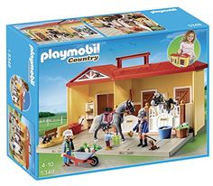 Playmobil Country Horse Stables Series new arrival in our shop. They are: 5348 Mein Pferdestall zum Mitnehmen (Limited . Play Mobile, Horse Stables, Horse Farms, Playmobil Country, Games For Kids, Games To Play, Horse Adventure, Playmobil Sets, Horses