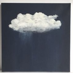 Original Painting, Acrylic Painting, Cloud Painting, Landscape Painting, Painting on Canvas, Contemporary Art, Wall Art, Navy, Black, Grey by delizabethstudio on Etsy https://www.etsy.com/listing/242741858/original-painting-acrylic-painting-cloud