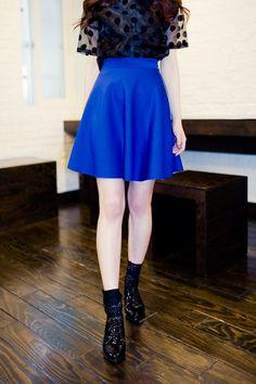 side zipper flare skirt from Kakuu Basic. Saved to Kakuu Basic Skirts. Shop more products from Kakuu Basic on Wanelo.
