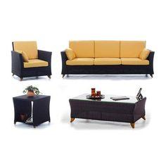 All Things Cedar PR90-SET 4 Piece Rattan Deep Seating Set