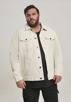 Off White Jacket, Urban Classics, Corduroy Jacket, Summer Evening, Ripped Denim, Chef Jackets, Raincoat, Sporty, Shirt Dress