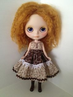 Floral Dress with ruffles for Blythe Doll