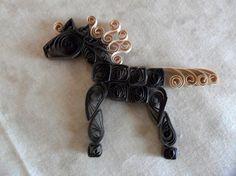 Handmade Paper Scrapbooking Supply Horse Brown by FlourishingAgain, $7.00