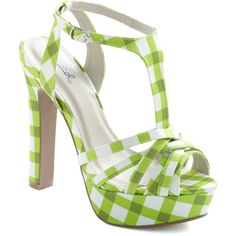 Lime Up Heel (190 DKK) ❤ liked on Polyvore featuring shoes, sandals, heels, green, green sandals, platform heel sandals, platform sandals, platform shoes and ankle strap high heel sandals