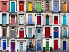 Fotomural 32 puertas delanteras collage horizontal - puerta • PIXERS.es