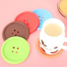 6pcs Silicone Button Teacup Mats