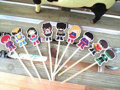 Primeros de la magdalena de superhéroe super hero fiesta de cumpleaños decoraciones de fiesta de cumpleaños decoraciones del partido kids
