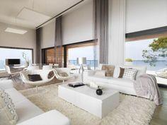 wohnzimmer einrichtung vorschläge raumgestaltung weiß design trendig auffällig