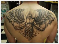 Back Tattoo Designs: The Wing Tribal Back Tattoo Designs And Meaning For Men On Back ~ tattooeve.com Tattoo Design Inspiration