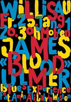 Niklaus Troxler, 1991 - James blood Ulmer