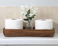Diy Farmhouse Shelf Tutorial + A Bathroom Refresh - The Craft Patch - Home Decor Diy Home Decor Projects, Home Crafts, Diy And Crafts, Cheap Bathrooms, Small Bathrooms, Bathroom Interior, Dyi Bathroom, Blue Bathroom Decor, New Bathroom Designs