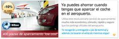 Parking low-cost en el aeropuerto de Bilbao con Easypark Bilbao descuento 10%