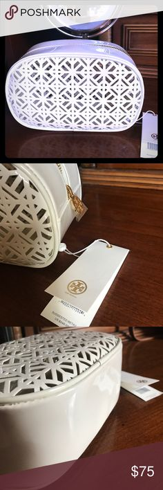 Tory Burch cosmetic case New. Never used. Tags are not connected. Great size to hold your essentials Tory Burch Bags Cosmetic Bags & Cases